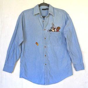 VINTAGE Warner Bro's Tweety Embroidered Shirt